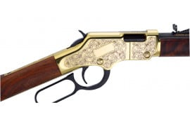 "Henry H004D3 Golden Boy Deluxe Engraved 3rd Ed 22 LR 20.0"" 16+1 Gold"