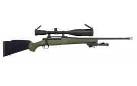 """Mossberg 27925 Patriot Night Train Bolt 300 Win Mag 22"""" 4+1 Synthetic OD Green Stock Blued"""