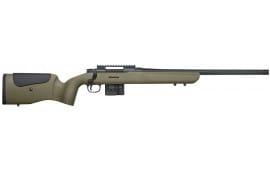 "Mossberg 27697 MVP LR Bolt 308 Winchester/7.62 NATO 20"" FB TB 10+1 Synthetic Benchrest Adjustable Comb OD Green/Black Stock Matte Blued"
