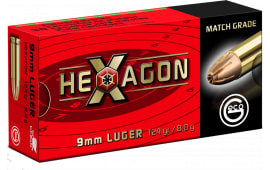 289140050 Geco 9mm HEX 124 GR - 50rd Box