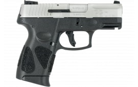 "Taurus .40 Caliber Semi-Auto Pistol, G2C 40 S&W 3.2"" BBL, 10 Round, Black/Stainless - 1G2C403910"