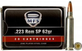 520540020 MFS Zinc .223 Remington 62 SP - 20rd Box