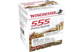 Winchester 22LR555HP Rimfire 22 LR 35 GR Copper Plated HP 1280 fps Ammo - 555rd Box