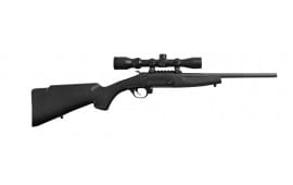 "Traditions CR1220070 Crackshot w/Scope BO 22LR 16.5"" 1rd Black Synthetic Stock"