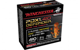 "Winchester Ammo S410PDX1 Elite 410GA 2.5"" 3 Defense Discs/12 BBs Shot - 10sh Box"
