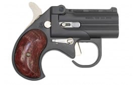 "Cobra Firearms / Bearman Long Bore Derringer 3.5"" Barrel 9mm 2rd - Black W/ Rosewood Grips - LBG9BR"