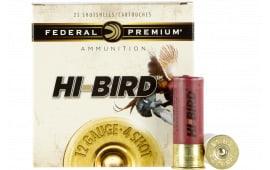 """Federal HVF12H4 Hi-Bird Game Load 12GA 2.75"""" 1-1/4oz #4 Shot - 250sh Case"""