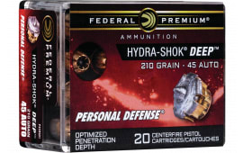 Federal P45HSD1 45AUTO 210 HS Deep - 20rd Box