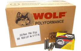 Wolf 22355CFMJ 223 FMJ CP 55 500 - 500rd Case