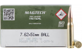 MagTech 762A Case - 7.62X51 M80 Ball, Brass Cased, Boxer Primed, 50 Rds / Box - 400 Round Case