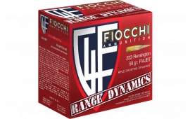 Fiocchi 223ARD10 Range Dynamics .223/5.56 NATO 55 GR Full Metal Jacket Boat Tail - 1000rd Case