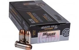Sig Sauer E45AP2-50 45 230 Jacketed Hollow Point VCRWN - 50rd Box