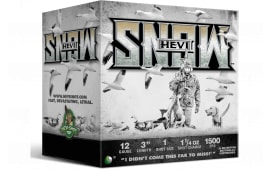 """Hevishot hot 20001 HEVI-SNOW WF 12 3"""" 1 11/4 - 25sh Box"""