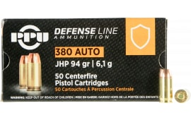 PPU PPD380A 380 94 Jacketed Hollow Point - 50rd Box