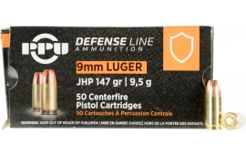 PPU PPD92 9mm 147 Jacketed Hollow Point - 50rd Box