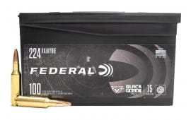 Federal Black Pack .224 Valkyrie 75 GR Full-Metal Jacket 100rd Box