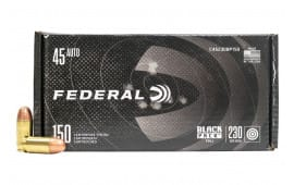 Federal Black Pack .45 ACP 230 GR Full-Metal Jacket Round Nose 150rd Box