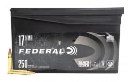 Federal Black Pack .17 HMR 17 GR Hollow Point 250 Round Box