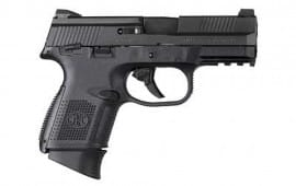 "FN 66694 FNS 9 Compact Double 9mm 3.6"" MS 10+1 Polymer Grip/Frame Black Stainless Steel"