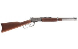 """Rossi 923571693 R92 Lever Action Carbine 357 Magazine/38 Special 16"""" 8+1 Brazillian Hardwood Stock Stainless Steel"""