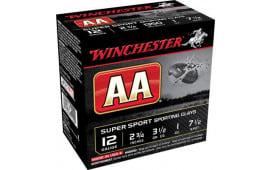"Winchester Ammo AASC12507 AA Super Sport 12GA 2.75"" 1oz #7.5 Shot - 25sh Box"