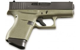 Glock 43 Sub-Compact Semi-Auto Pistol 9mm 6+1 Capacity Black Slide w/ Battlefield Green Frame - PI4350201BFG
