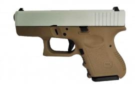 Glock 26 Gen 3 Semi-Automatic 9mm Pistol FDE/GREY 10 Round - UI2650204FDEG