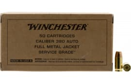 Winchester Ammo SG380W 380 95 FMJ SRVGRD - 50rd Box