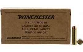 Winchester Ammo SG38W 38SP 130 FMJ SRVGRD - 50rd Box