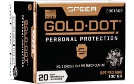 Speer 23913GD Gold Dot 327FED 100 HP - 20rd Box