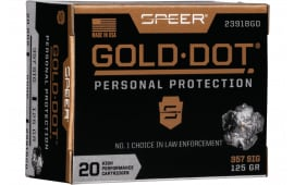Speer 23918GD Gold Dot 357SIG 125 HP - 20rd Box