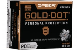 Speer 23962GD Gold Dot 40 S&W 180 HP - 20rd Box