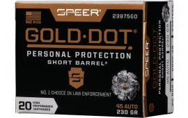 Speer 23975GD Gold Dot 45APC 230 HP SB - 20rd Box