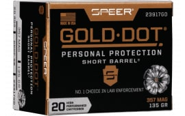 Speer 23917GD Gold Dot 357 Mag135 HP SB - 20rd Box