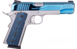 """Taurus 1191109BVZ 1911 45 5"""" 8rd VZ Grip SS/BL PVD"""