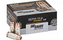 Sig Sauer E357S1-50 357S 125 Jacketed Hollow Point VCRWN - 50rd Box