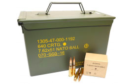 GG+G of Lithuania 7.62x51 NATO 147 GR FMJ GP11 Ball Ammo - 640rd Can