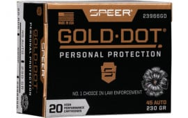 Speer 23966GD Gold Dot 45APC 230 HP - 20rd Box