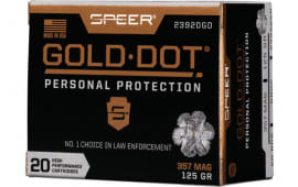 Speer 23920GD Gold Dot 357 Mag125 HP - 20rd Box