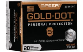 Speer 23960GD Gold Dot 357 Mag158 HP - 20rd Box