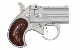 "Cobra Firearms / Bearman Long Bore Derringer 3.5"" Barrel 9mm 2rd - Satin W/ Rosewood Grips - LBG9SR"