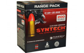 Federal AE40SJ1200 American Eagle Syntech 40 Smith & Wesson (S&W) 165 GR Total Synthetic Jacket (TSJ) - 200rd Box