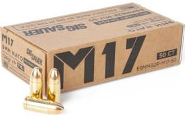 Sig Sauer E9MMB2PM17-50 9MM+ P 124 FMJ Elite - 50rd Box