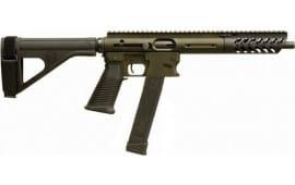 """TNW Firearms ASRPXPKG00009BKODBRHG Aero Survival Pistol 8"""" 33rd w/BRACE OD Green"""