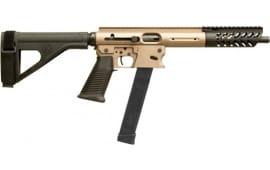 """TNW Firearms ASRPXPKG0009BKTNBRHG Aero Survival Pistol 8"""" 33rd w/BRACE Dark Earth"""