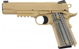 "Colt O1070CQB 1911 Government Limited Edition Single 5"" 8+1 Black G10 Grip Flat Dark Earth"