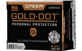 Speer 23964GD Gold Dot 45APC 185 HP - 20rd Box