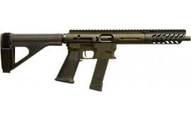 """TNW Firearms ASRPXPKG0045BKODBRHG Aero Survival Pistol 8"""" 26rd w/BRACE OD Green"""