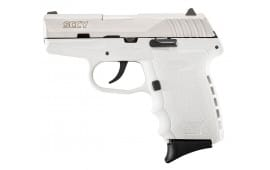 "SCCY CPX2TTWT CPX-2 Double 9mm 3.1"" 10+1 White Polymer Grip/Frame Grip Stainless Steel"