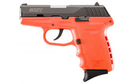 "SCCY CPX2CBOR CPX-2 Double 9mm 3.1"" 10+1 Orange Polymer Grip/Frame Grip Black Nitride Stainless Steel"